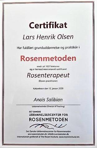 Nu er jeg Rosenterapeut!